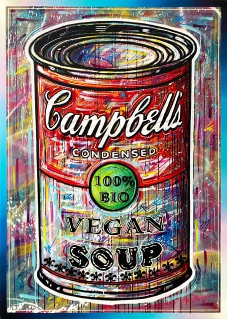 Michał Mąka Vegan_Soup_No.1_,_acrylic,_spray_on_canvas,_140x100cm,_2020