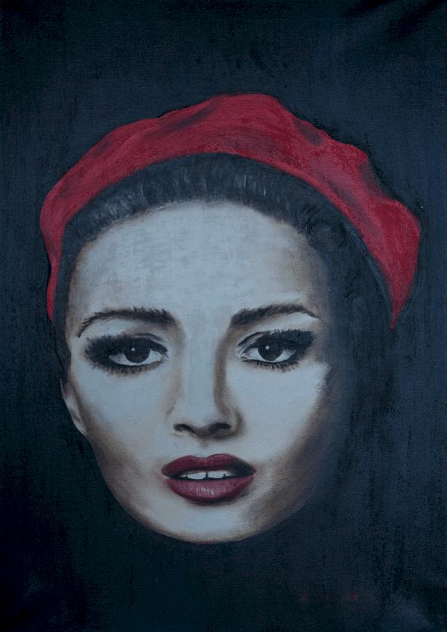 Helena Szczypko _Portret aktorki_ 100x70 olej na płótnie